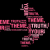 Wordle made up of words about theme