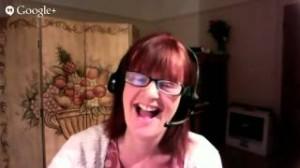 Orna Ross on a Google hangout