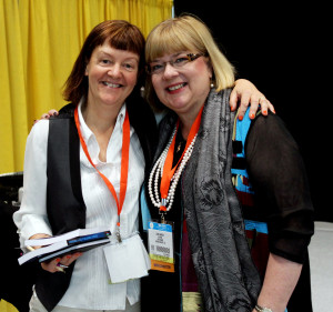 Orna & Lara in The Author Hub BEA 2014