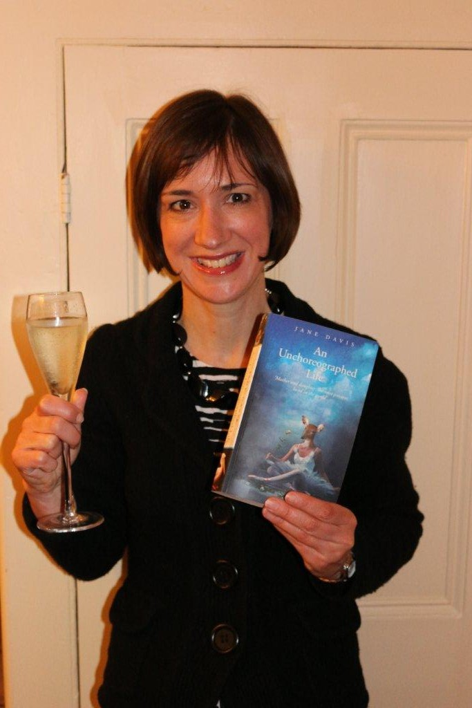 Jane With Book And Glass Of Champagne