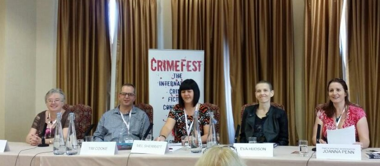 CrimeFest Panel Seated At Table