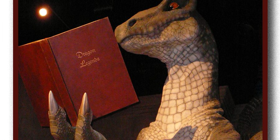 Photo Of A Dragon Reading A Book