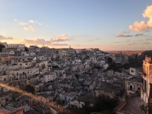 photo of sunset over Matera