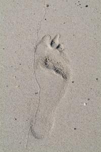 footprint on the sand