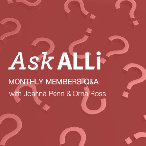 Your Self-Publishing Questions Answered. Ask ALLi Logo Q&A With Orna Ross And Joanna Penn