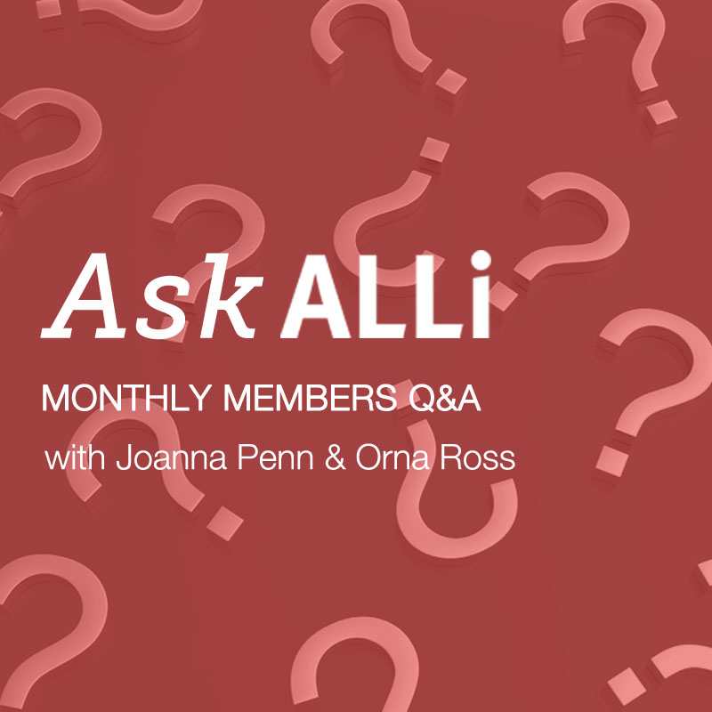 Ask ALLi April 28 Q&A With Joanna Penn & Orna Ross Video And Podcast