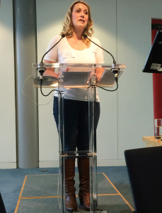 Jane Dixon-Smith at the lectern