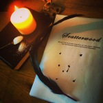 Photo of manuscript by candlelight