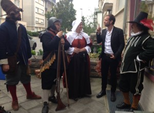Piers and friends in historical costume