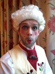 Photo of Piers Alexander in Regency costume