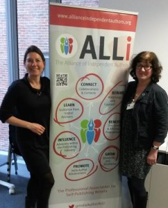 Flying the ALLi flag with Lesia Daria, an ALLi member who also attended the Kingston conference