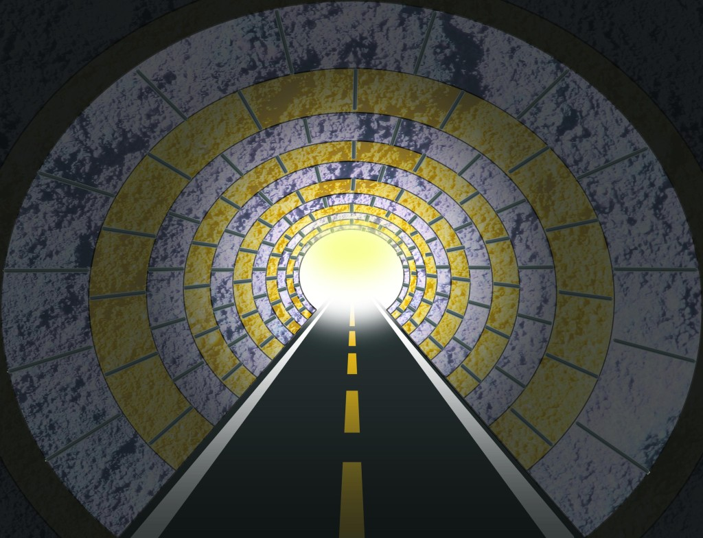 image of light at end of tunnel