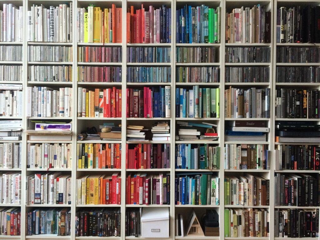 The joy of a well-stocked  bookshelf