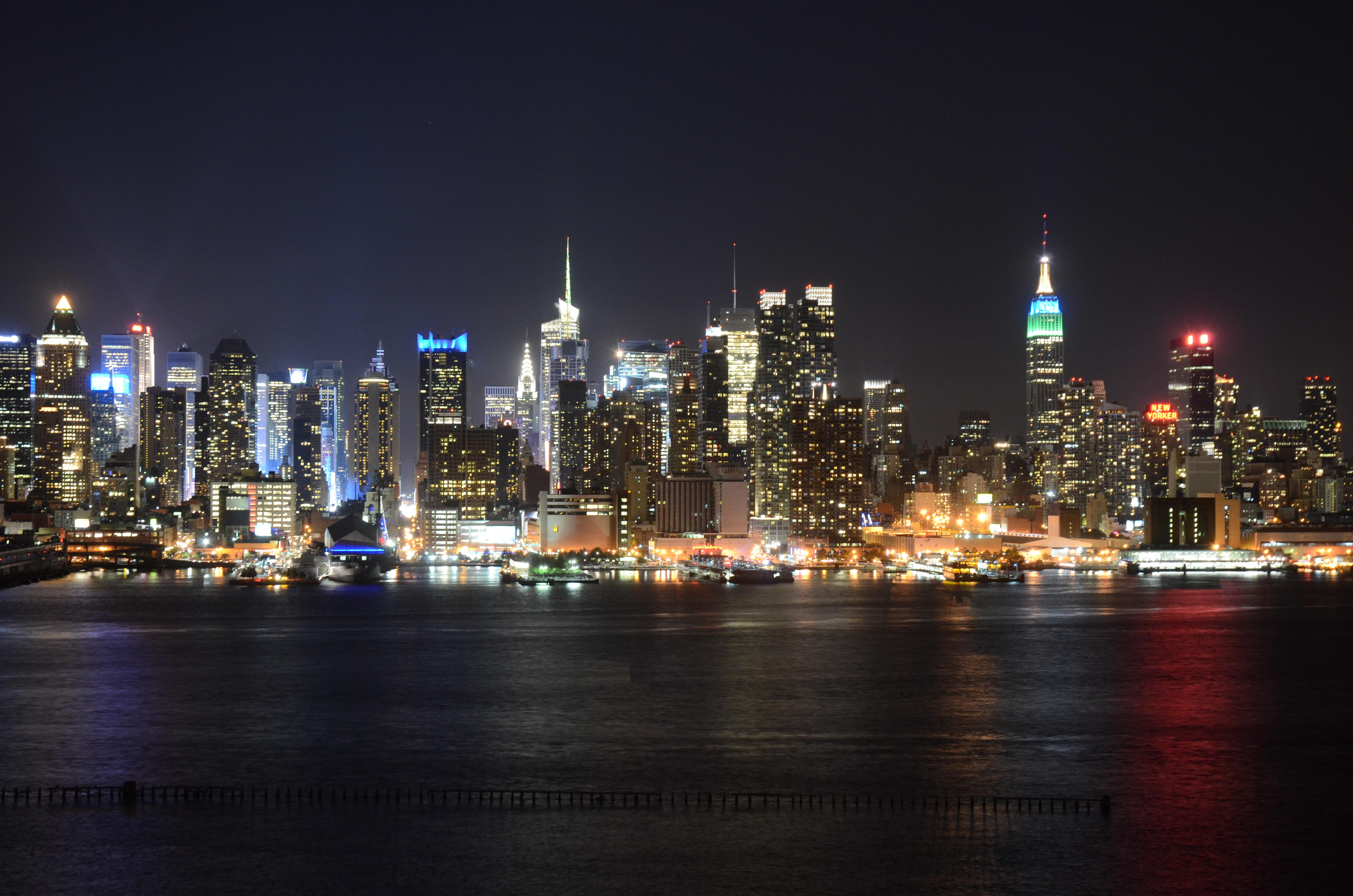 Night Time Cityscape Photo Of New York
