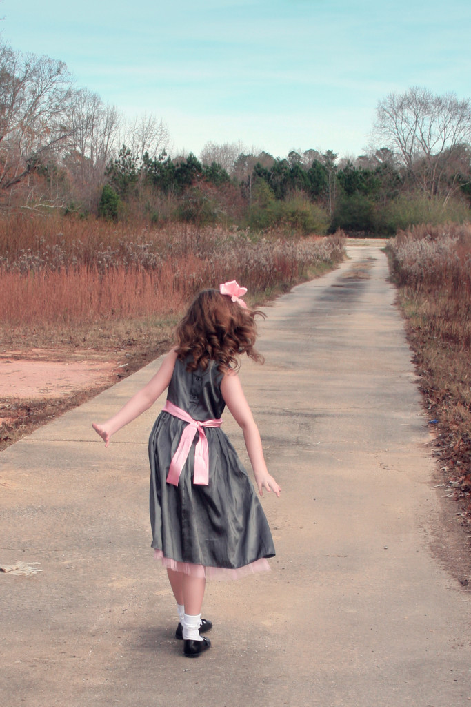 Girl alone on a path