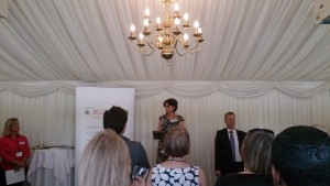Photo of Nicola Solomons speaking at the House of Commons