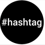 Hashtag Logo Black circle A-Z of Social Media Prompts for Authors