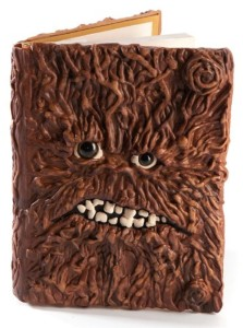 Furry book cover with monster-like face