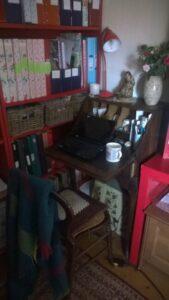 photo of old-fashioned upright bureau