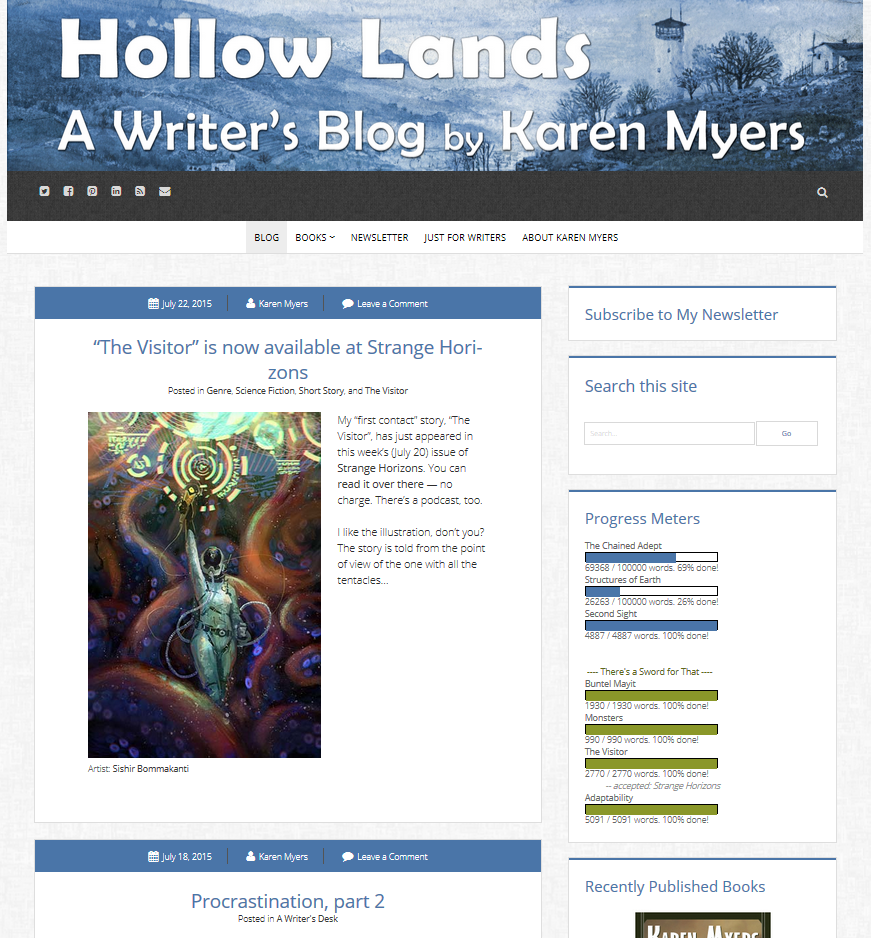Screenshot of HollowLands home page