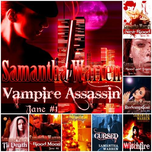 Montage of some of Samantha Warren's book covers