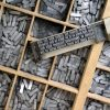 Old fashioned hot metal type