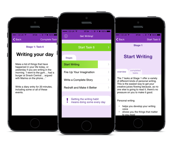 Screenshots Of Jenny Alexander's Get Writing App