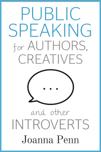 Cover of Joanna Penn's book about public speaking