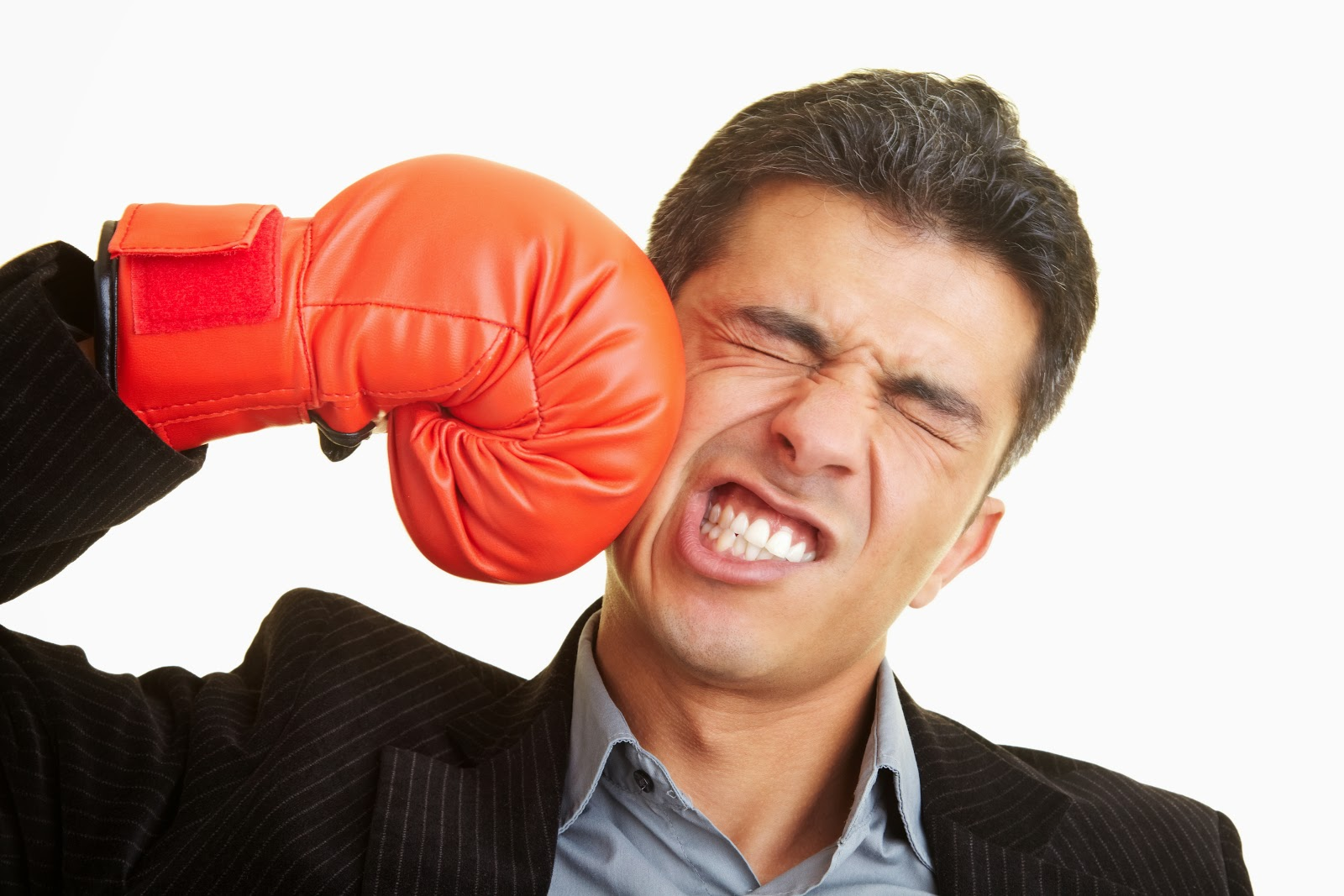Photo Of Man Punching Himself