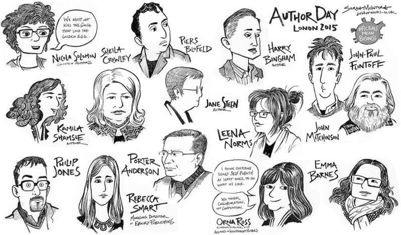 Caricatures by Sarah McIntyre