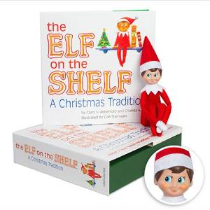 Book, box and elf photo