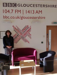 Debbie Young in BBC Radio Gloucestershire reception