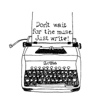 Cartoon Of A Typewriter Saying