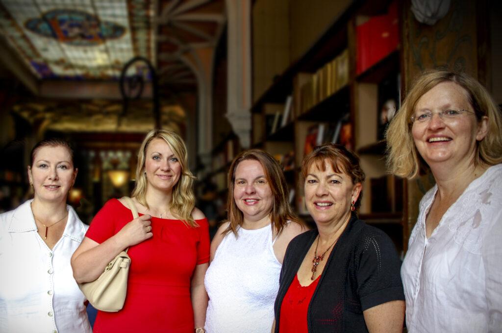 Author line-up photo