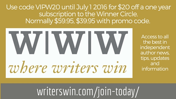 WWW Where Writers Win banner ad for Indie Author Fringe BEA