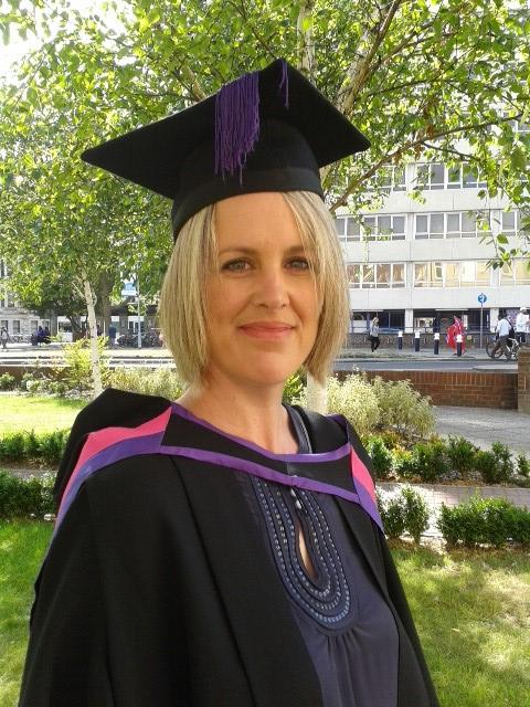 Head Shot Of Eden Sharp In Academic Gown