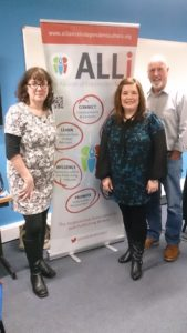 ALLi banner with Debbie Young and David Ebsworth and a guest