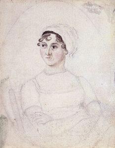 Portrait of Jane Austen by her sister Cassandra)