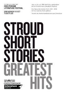 Poster for Stroud Short Stories at Cheltenham Lit Fest