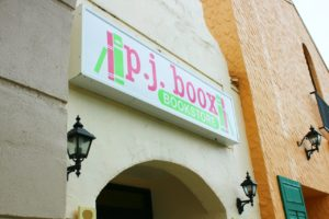 The sign above the store