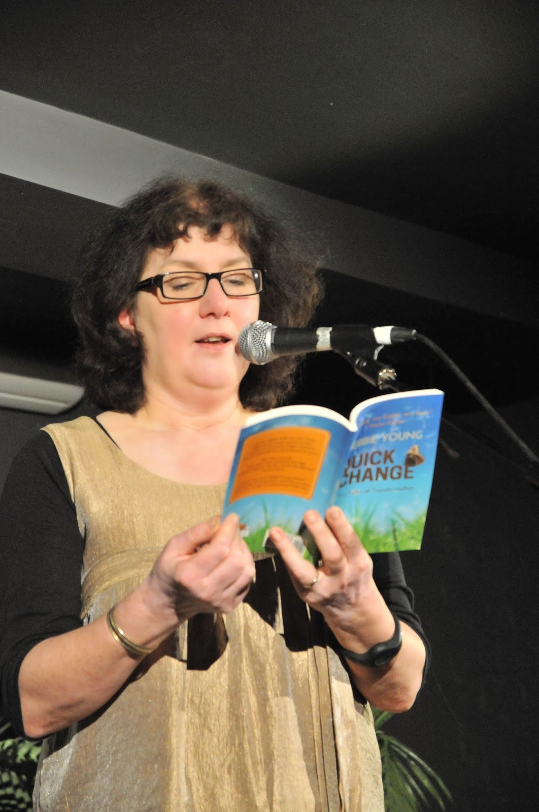 Debbie Young Reading At Stroud Short Stories Event