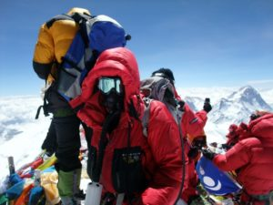 Mark Horrell in full mountaineering kit