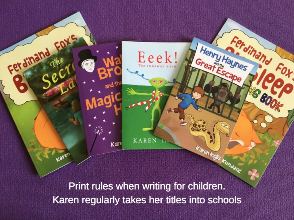 Array of Karen Inglis's books for children