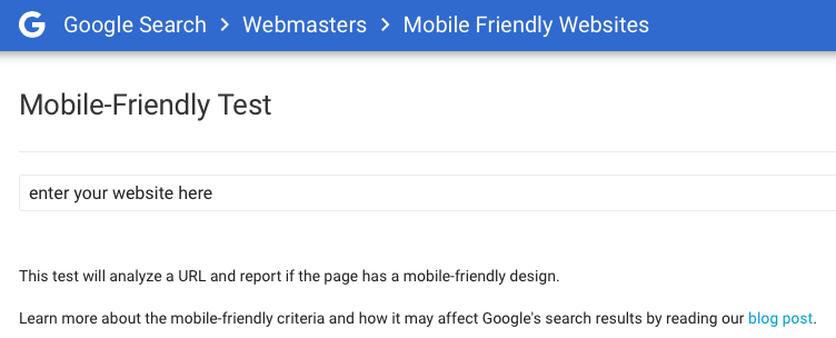 Google Mobile Friendly website