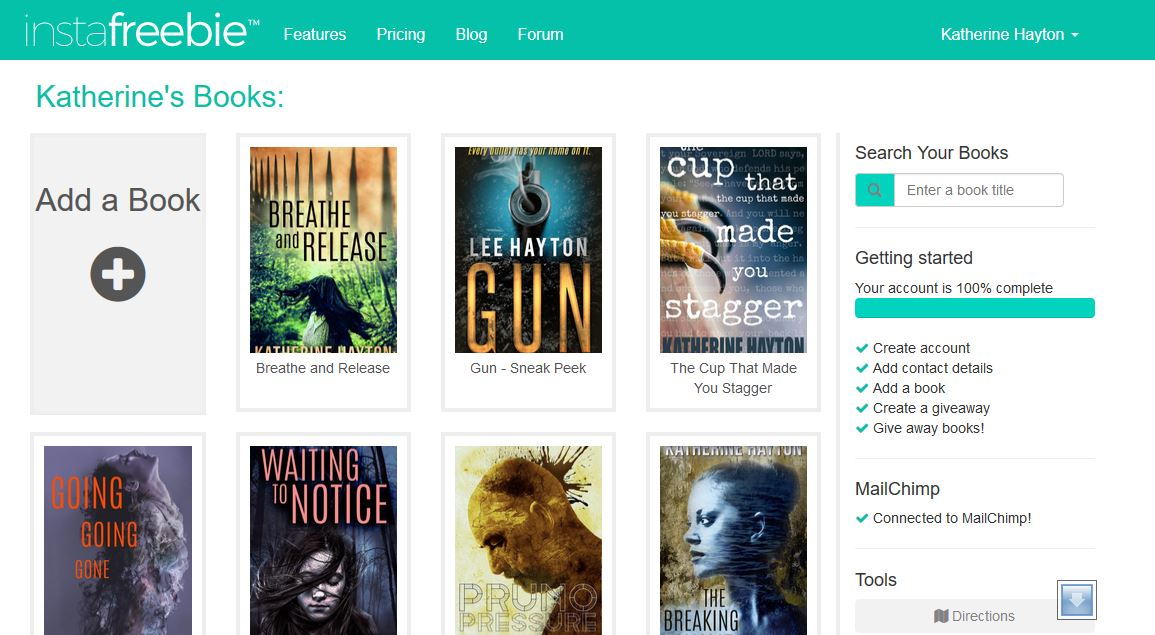 Book Marketing Ideas: How To Grow Your Mailing List With An InstaFreebie Trial