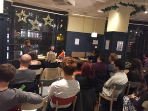 Here we were this week, in a physical bookshop, with a real life audience, reading from our print books, talking about how the internet had changed literature. Interesting times!