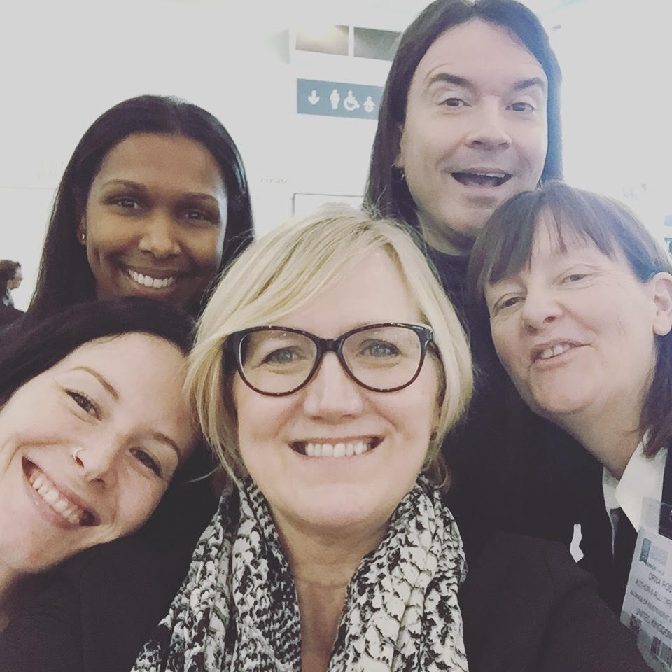 Photo Of Helena Halme At LBF With Four ALLi Friends