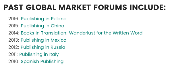 Book Expo Global Market Forum