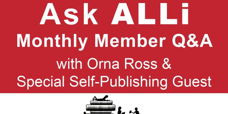 Ask ALLi Self-Publishing Member Q&A With Orna Ross & Joel Friedlander