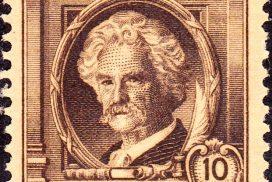 10c stamp commemorating Mark Twain